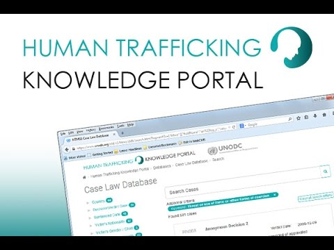 How do experts use the Human Trafficking Knowledge Portal?