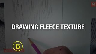 Drawing Fleece Fabric Textures Made Easy! (touchable Textures #3)