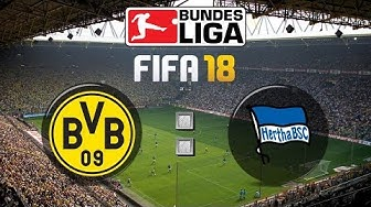 FIFA 18 Bundesliga Borussia Dortmund : Hertha BSC | Gameplay Deutsch Livestream