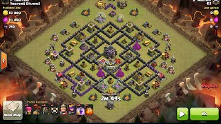 3 Star TH9 Penta Hound Lavaloon on new TH9, clash of clans, clan war attack