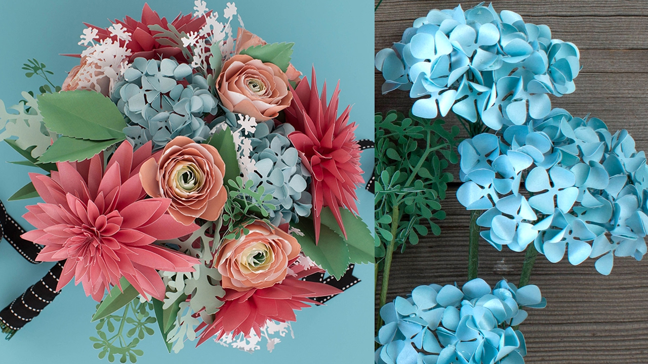 How to Make a Paper Flower Bouquet: Hydrangea - YouTube