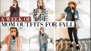 WHAT I WEAR IN A WEEK!   Cute + Casual MOM outfits for the Fall!   Natalie Bennett