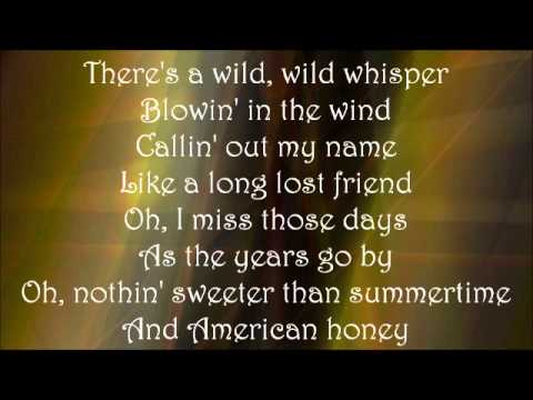 American Honey - Lady Antebellum Lyrics