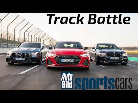 TRACK BATTLE: Audi RS7 vs BMW M5 Competition vs Mercedes-AMG GT 63 S – Track POV