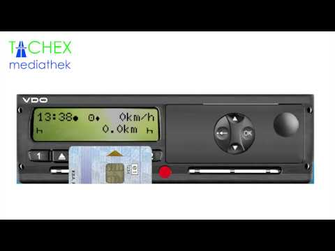 Digitaler Tachograph Vdo Digitaler Tachograph zu