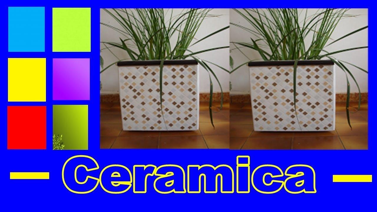 Como fazer vaso de piso vaso de cer mica youtube - Como blanquear el piso de ceramica ...