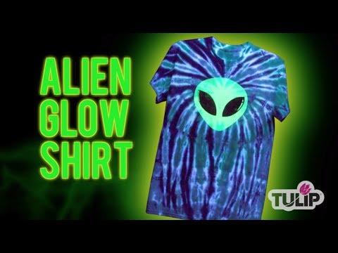 Alien Tie Dye Shirt Technique
