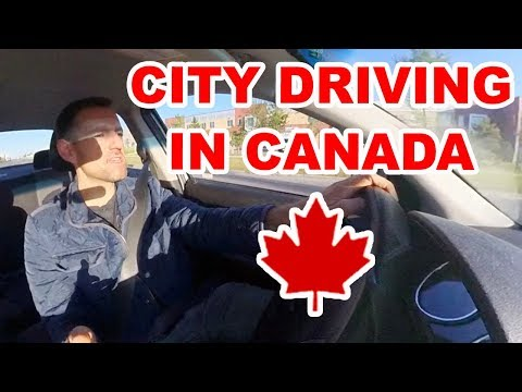 CITY DRIVING LESSON IN CANADA