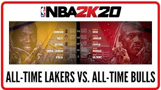 NBA 2K20 Gameplay - ALL-TIME LAKERS VS  ALL-TIME BULLS (Four Quarters and OT)