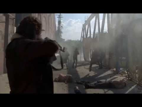 The Walking dead-Terminus escape scene