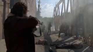 The Walking dead-Terminus escape scene