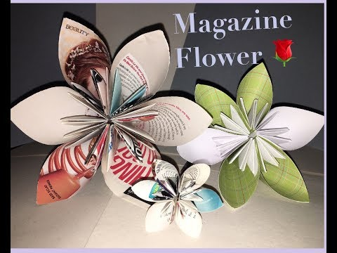How to make a Magazine Flower // kudsudama origami