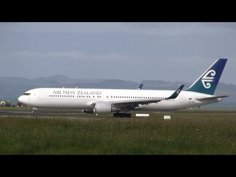 Air New Zealand ► Boeing 767-300 ► Takeoff ✈ Auckland Airport
