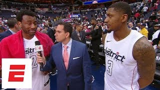 John Wall and Bradley Beal praise each other after Wizards' Game 3 win over Raptors | ESPN