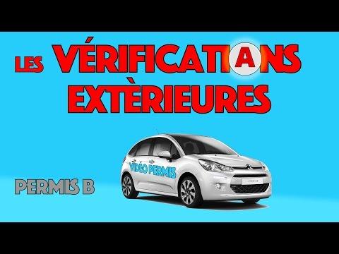 Vérifications extérieures du permis de conduire