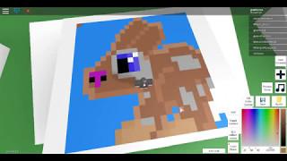 Roblox Pixel Art Creator drawing a Bun bun part 2