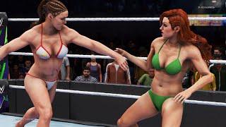 WWE 2K20 - Ronda Rousey vs. Becky L...