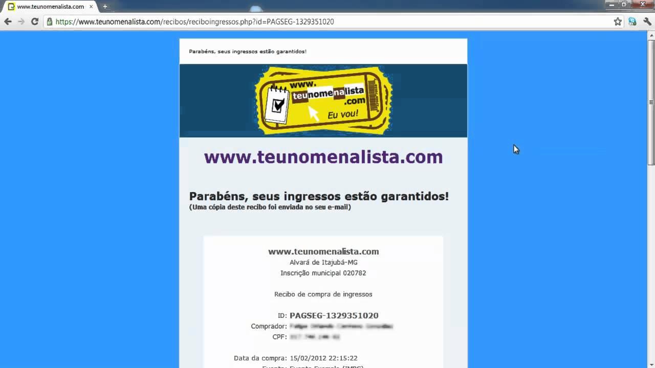 ddbee2010b0 Comprando ingressos com débito online (PagSeguro) - YouTube