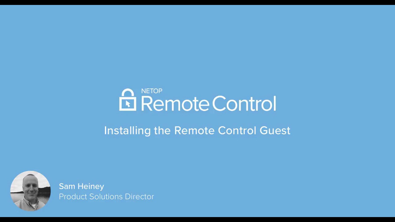 Netop Remote Control Portal -  Installing the Guest