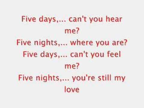 Patrick Nuo - 5 Days Lyrics - YouTube