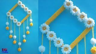Easy amazing woollen wall hanging||craft||hanger||decoration||handicraft