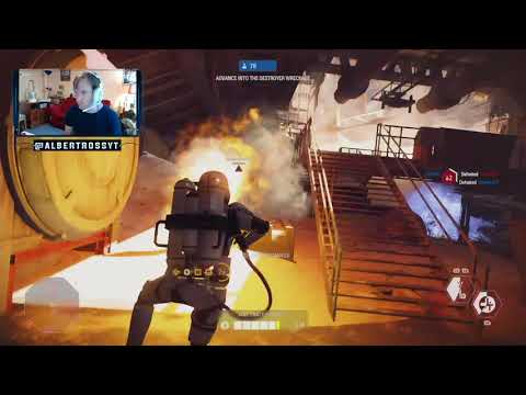 Star Wars Battlefront 28 kills flame trooper