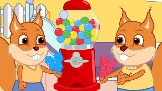ब्रिडी गिलहरी - से कैंडी गम बॉल मशीन l एनिमेटेड 13+