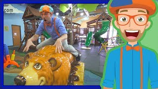 Educational Videos for Toddler by Blippi | An Indoor Playground Play Place thumbnail