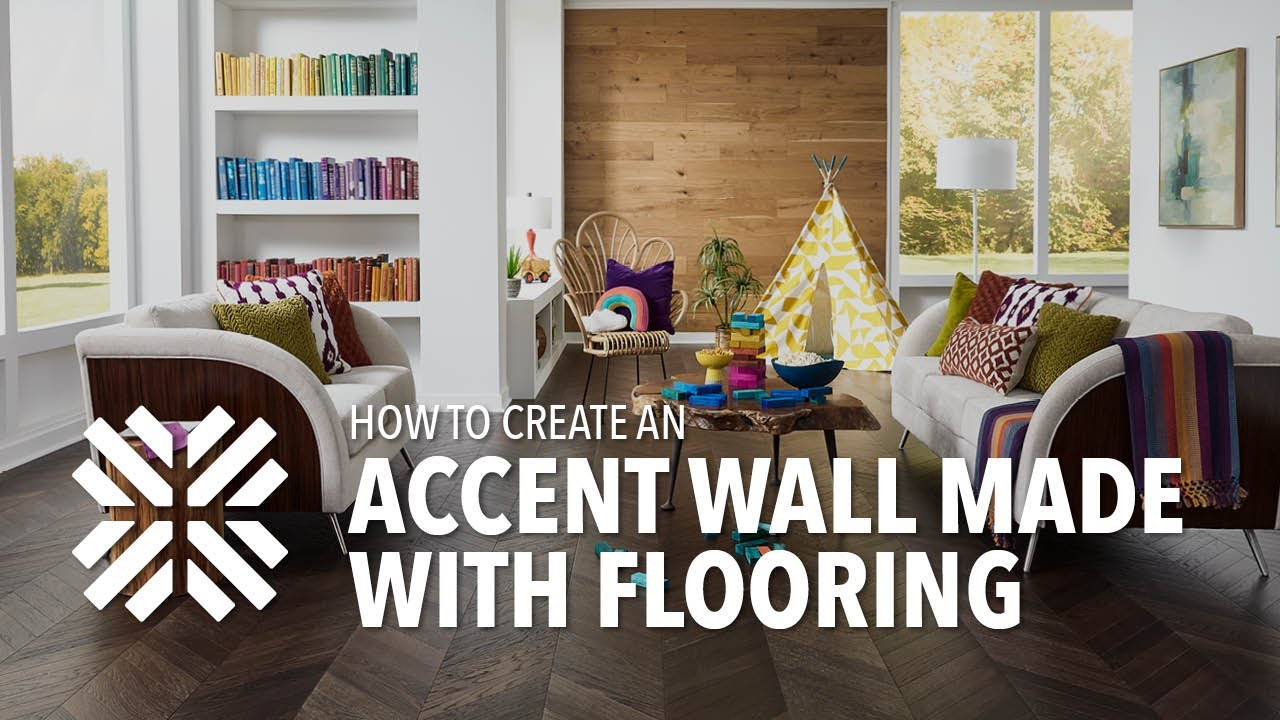 How To Create A Laminate Flooring Accent Wall Youtube