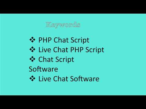 Chat Script Software -Live Chat Software