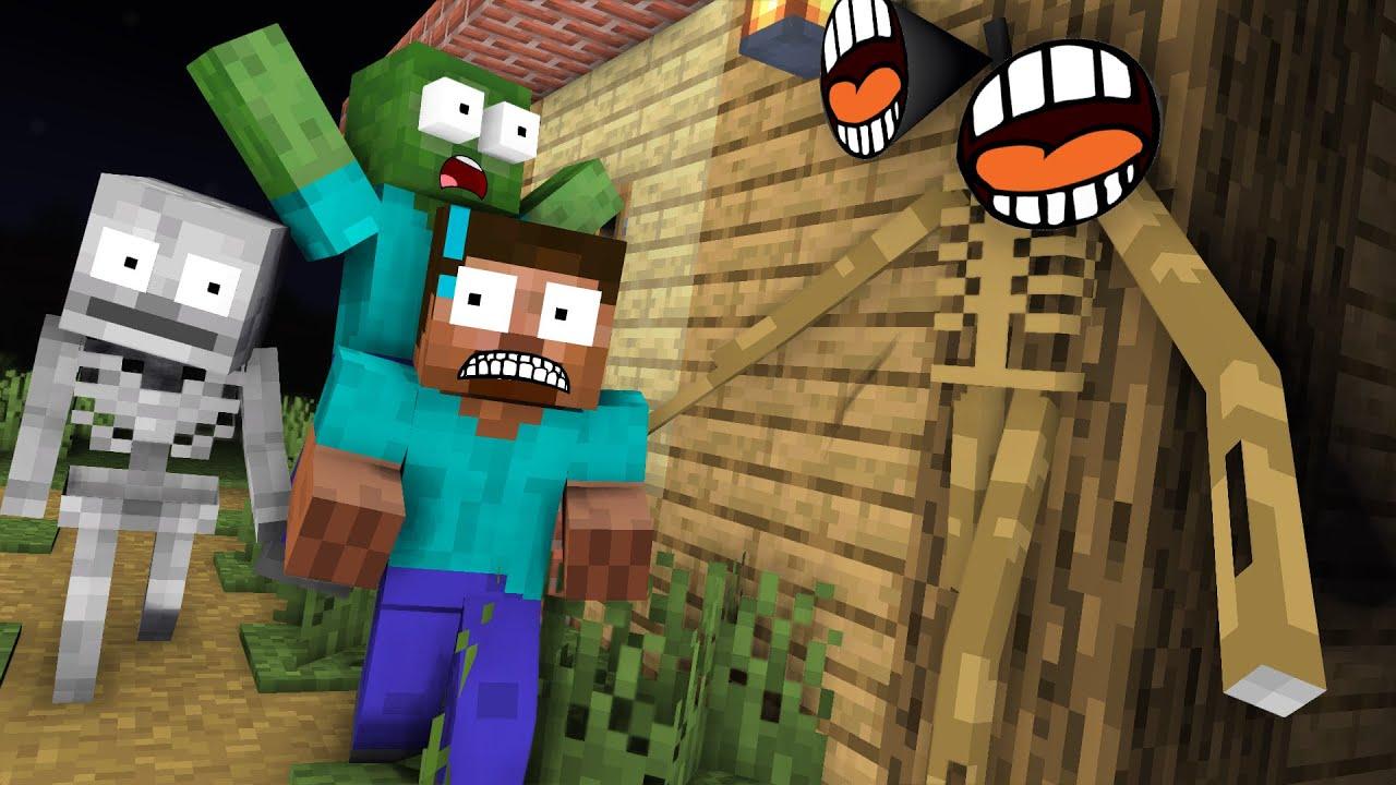 Monster School : Siren Head Hide and Seek - Minecraft Animation