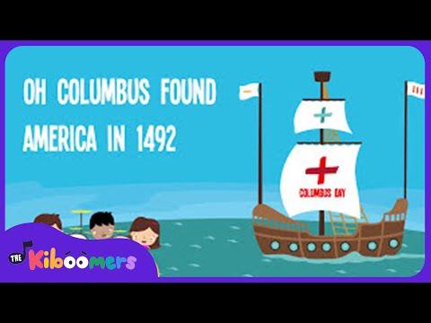 Columbus Day | Song Lyrics | Song for Kids | Preschool Songs