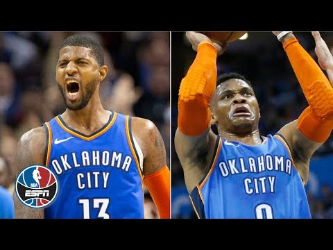 Paul George's 2OT game winner, 45 points & Russell Westbrook's 43 help Thunder win | NBA Highlights
