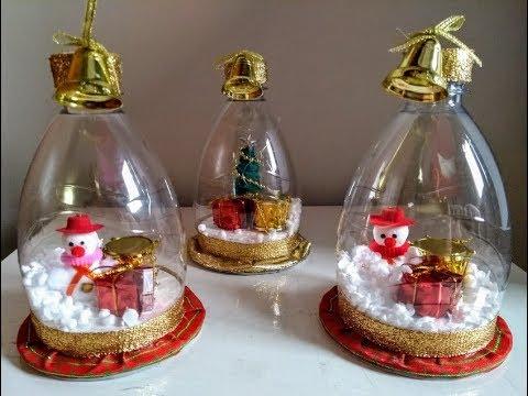 DIY Globo de Neve com reciclagem - DIY Snow Globe - DIY Globo de Nieve