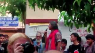 Moushumi Bhowmik sings in Jadavpur University