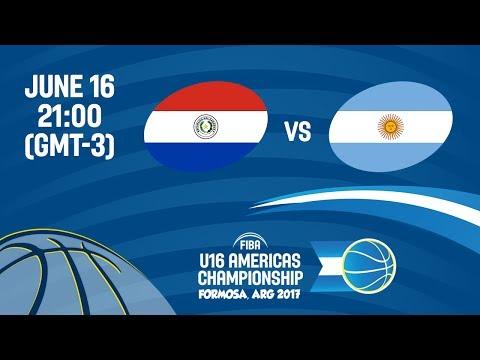Paraguay vs Argentina - Group A - FIBA U16 Americas Championship 2017