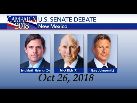 New Mexico Senate Debate Gary Johnson vs Mick Rich vs Martin Heinrich Oct 26, 2018