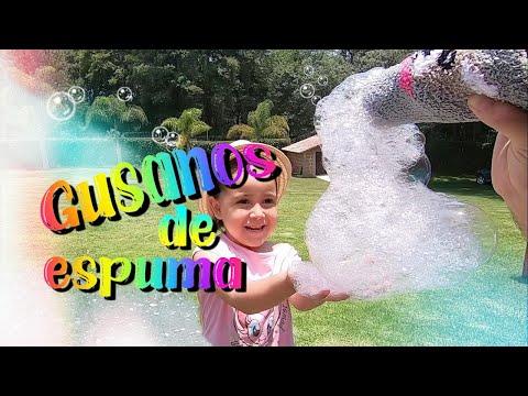 Máquina de burbujas casera, haz gusanos gigantes