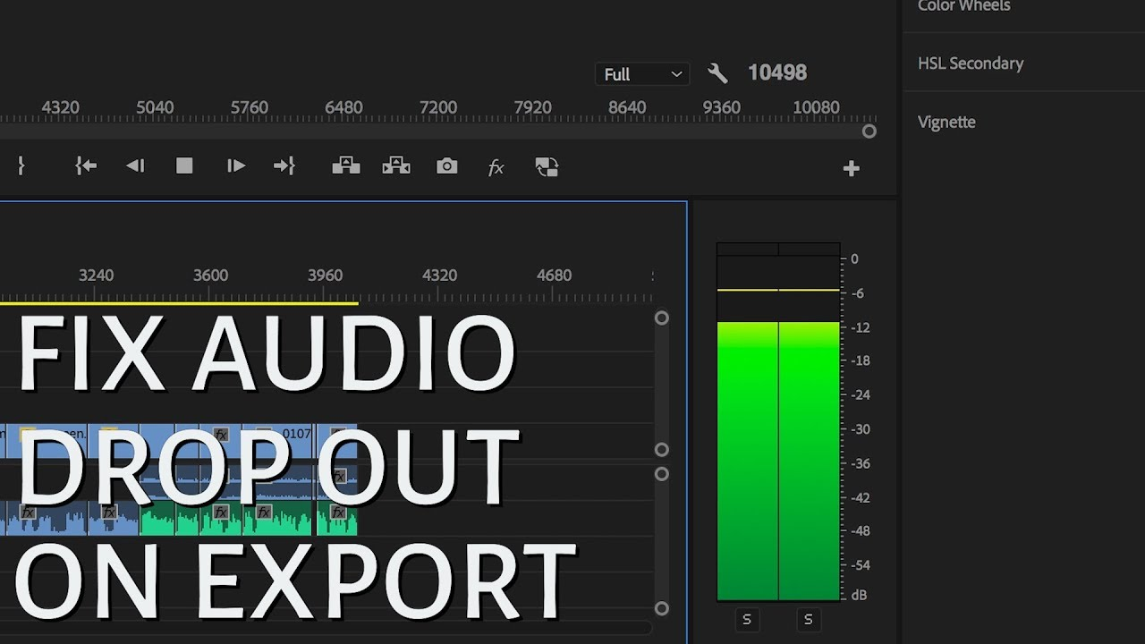 Fix AUDIO DROP OUT During EXPORT in PREMIERE 2018