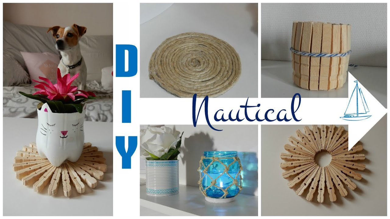 nautical themed room decor 2 beach decor diy d co faire soi m me r cup 39 youtube. Black Bedroom Furniture Sets. Home Design Ideas