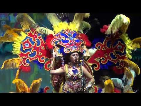 Presentación en traje típico de las candidatas a Reina Provincial de Turismo Huamboya 2017