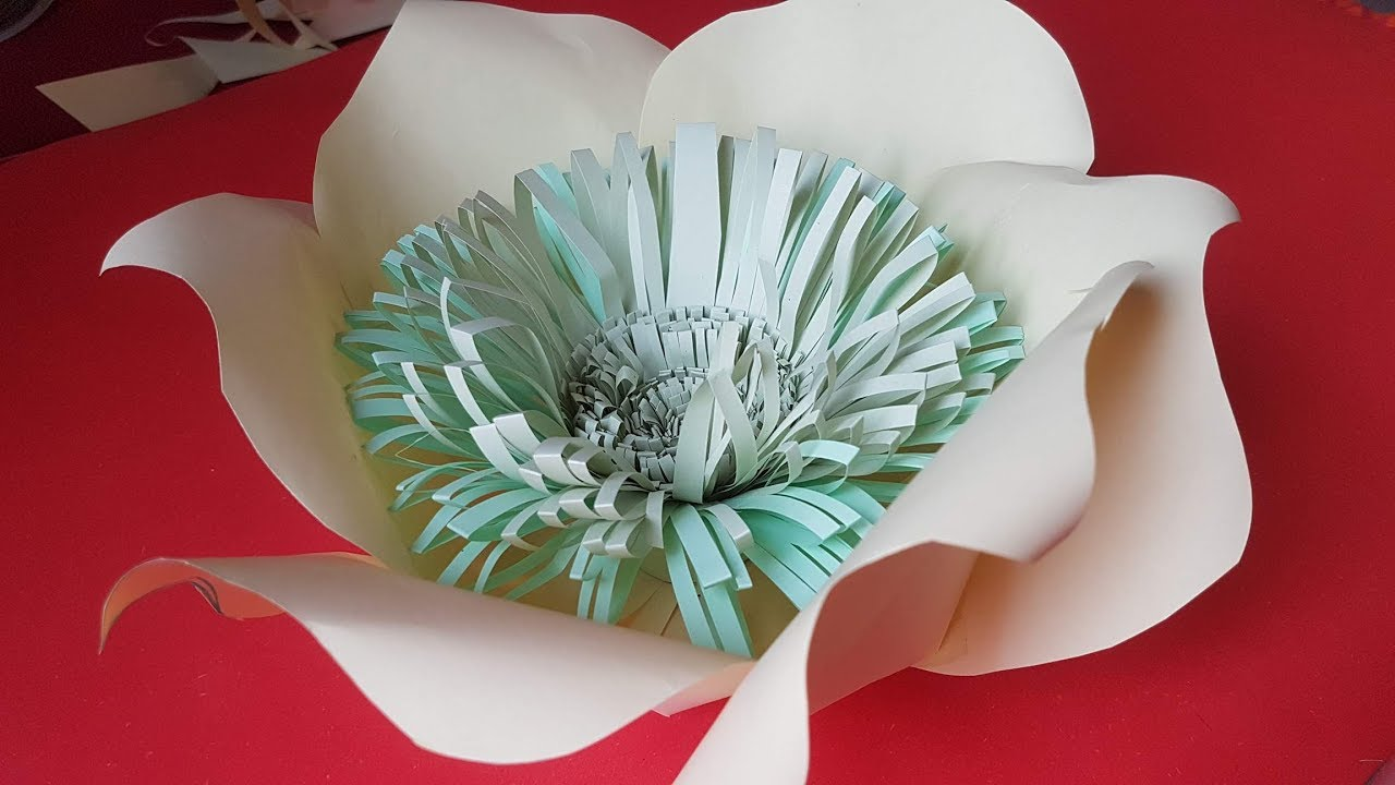 Diy Giant Paper Flower How To Make Diy Giant Rose Tutorial Large Size Paper Rose