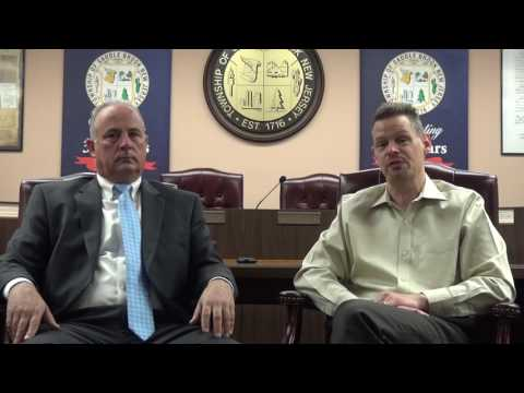 Saddle Brook Mayor Robert White and Rev.  Christopher Wolf discuss the new Community Partnership outreach program.