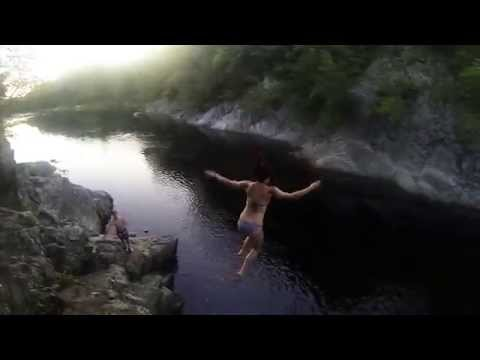 Cliff Jumping at Livermore Falls in HD