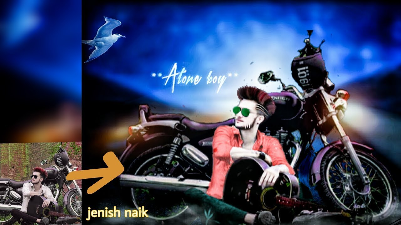Picsart editing tutorial jenish naik cb editing tutorial alone boyphoto manipulationlike photoshop