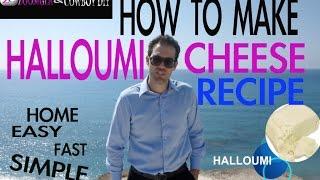 DIY How To Make Halloumi Homemade Cheese AWESOME Recipe COWBOYDIY.COM