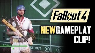 Fallout 4 News: NEW GAMEPLAY! Short Trailer #2! Big Leagues Perk! Settlements, Trading & Finishers
