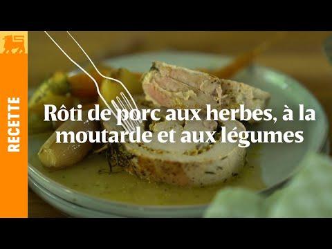 Roti de porc aux herbes