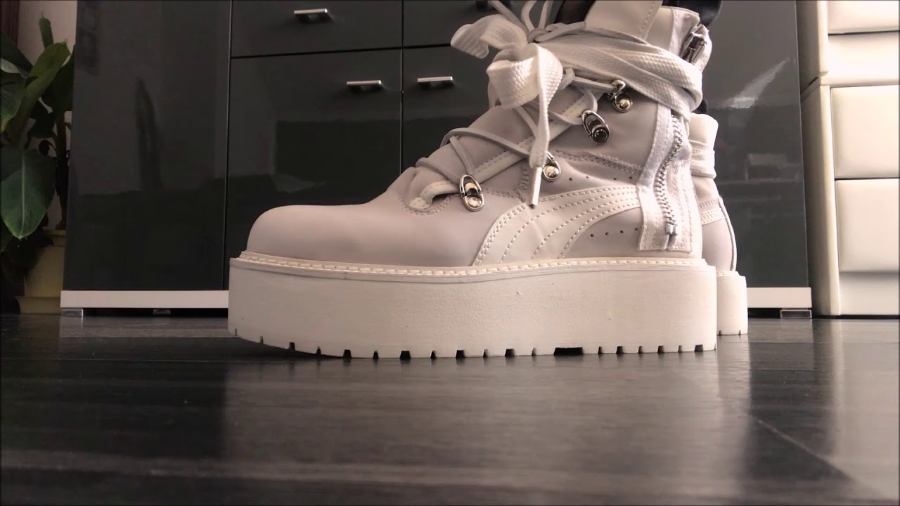 2deaa5c9dff58b Fenty x Puma by Rihanna sneaker boots - ON FEET - YouTube