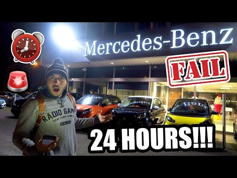 24 HOUR FORT IN A MERCEDES-BENZ DEALERSHIP !!! 🚘  ⏰ (GONE WRONG)
